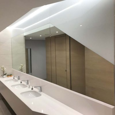Mirror White Glass Combo 1